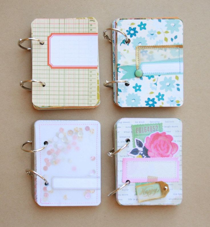 mini books made using scraps or 3x4 cards // mix in some index cards and these could be great for pretty to-do lists