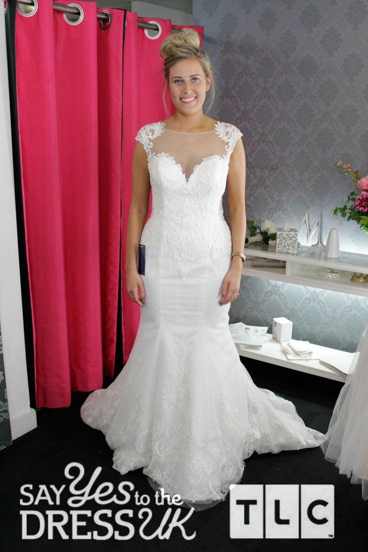 26 best tlc uk syttd images on pinterest wedding frocks short a plunging neck and illusion lace give this gown a unique look say yes to the dress uk on tlc ombrellifo Gallery