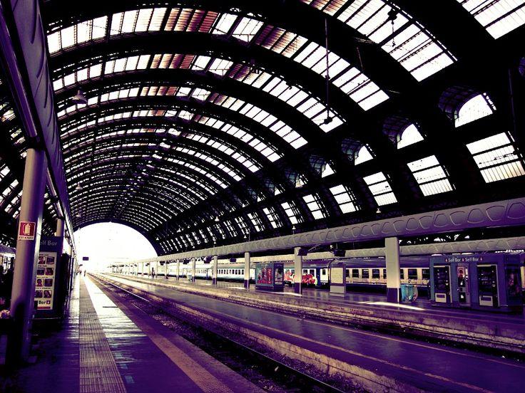 Italian train station.: Train Station