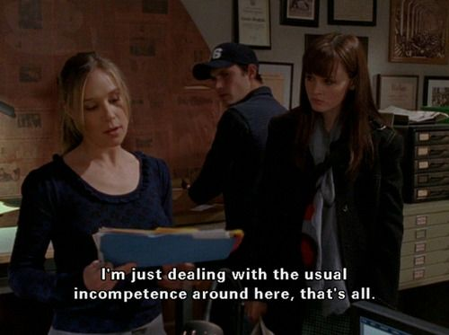 Funny Gilmore Girls quote. Love Paris Geller! She has the best quotes. The Yale newspaper.