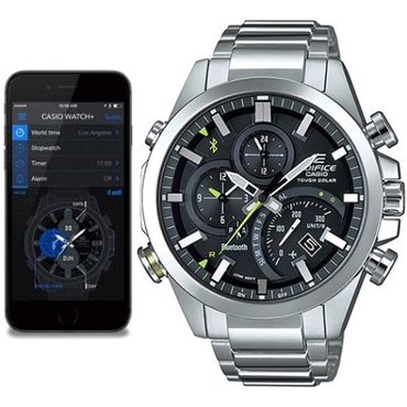 17 best images about casio edifice stainless steel casio edifice analogue bluetooth watch tough solar chronograph black eqb 500d 1aer connects to