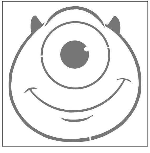 47 best images about stencil infantil on pinterest for Mike wazowski pumpkin template