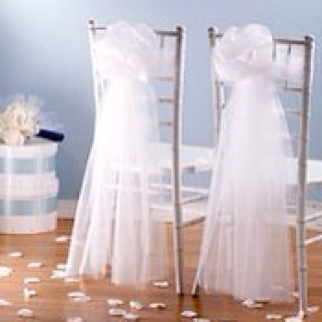 17 Best images about Chair Bows – Tulle Chair Bows