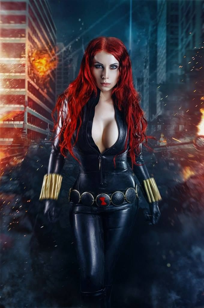Angie griffin cosplays winter soldier and scarlet witch