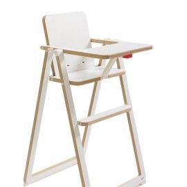Chaise haute pliante Supaflat blanc BamBinou