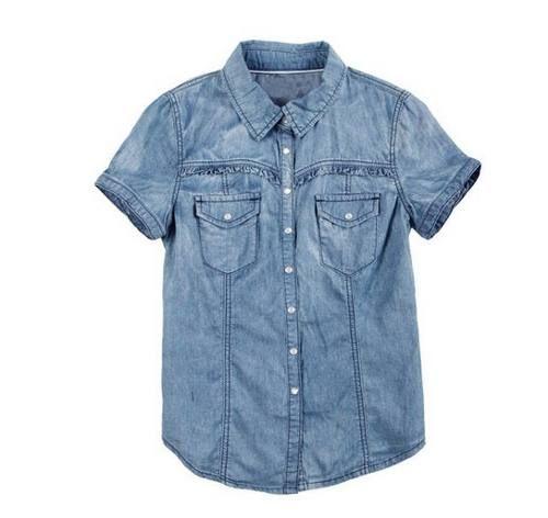 camisa de jean manga corta WANAMA