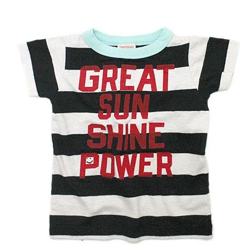 DENIM DUNGAREE(デニム&ダンガリー):ボーダー天竺GREAT SUN BABY Tシャツ 2BK黒 の通販【ブランド子供服のミリバール】