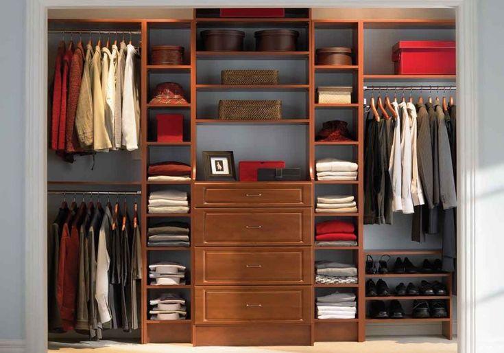 Enchanting Bedroom Closet Ideas with Small Space : Awesome Bedroom Closet Ideas Gray Interior Wooden Arts Wardrobe
