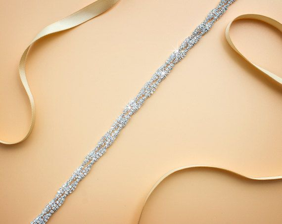 NEW YEAR SALE Bridesmaids Belt Bridal Belt Thin by xLittlebee