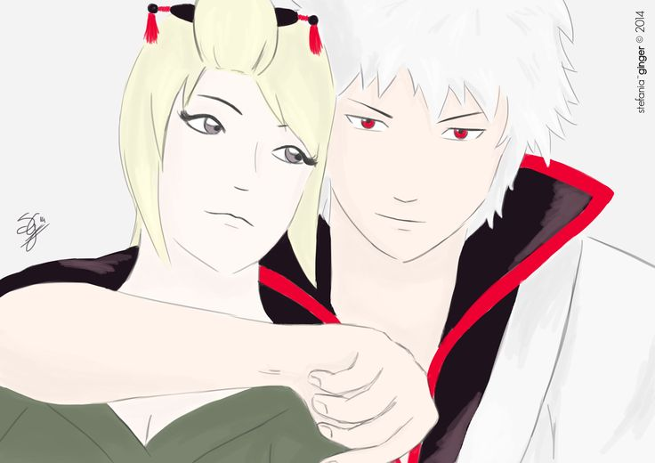 Gintoki and Tsukuyo from Gintama - fanart by me (C)