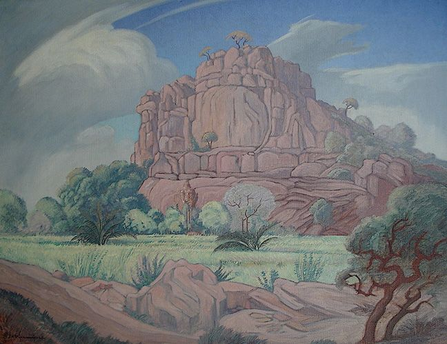 Elephant Castle, Phalaborwa - JH Pierneef