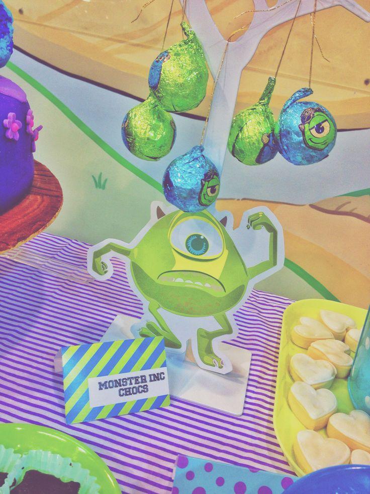 Monsters Inc Theme Birthday Dessert Table Amp Candy Bar