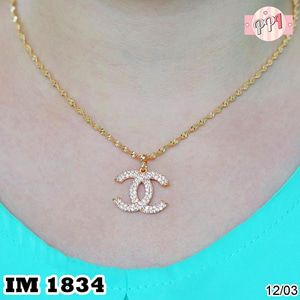 Kalung Panjang Lapis Emas 18k  Branded M 1834