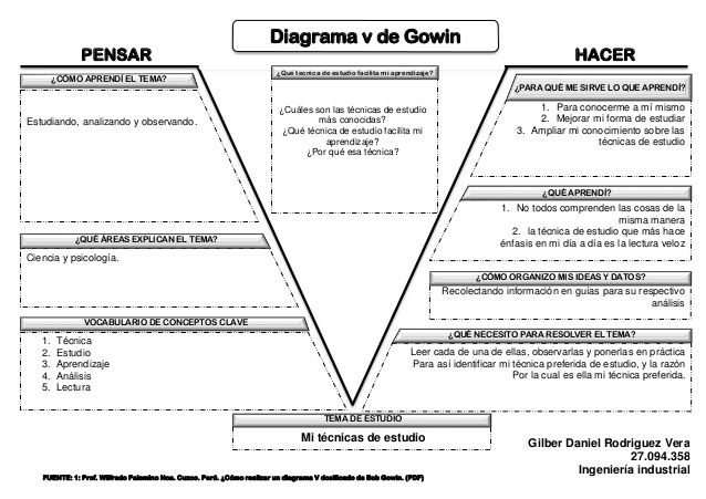 Diagrama V De Gowin Metacognition Einstein Image
