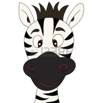 safari bebe: Dibujos animados de Zebra Vectores