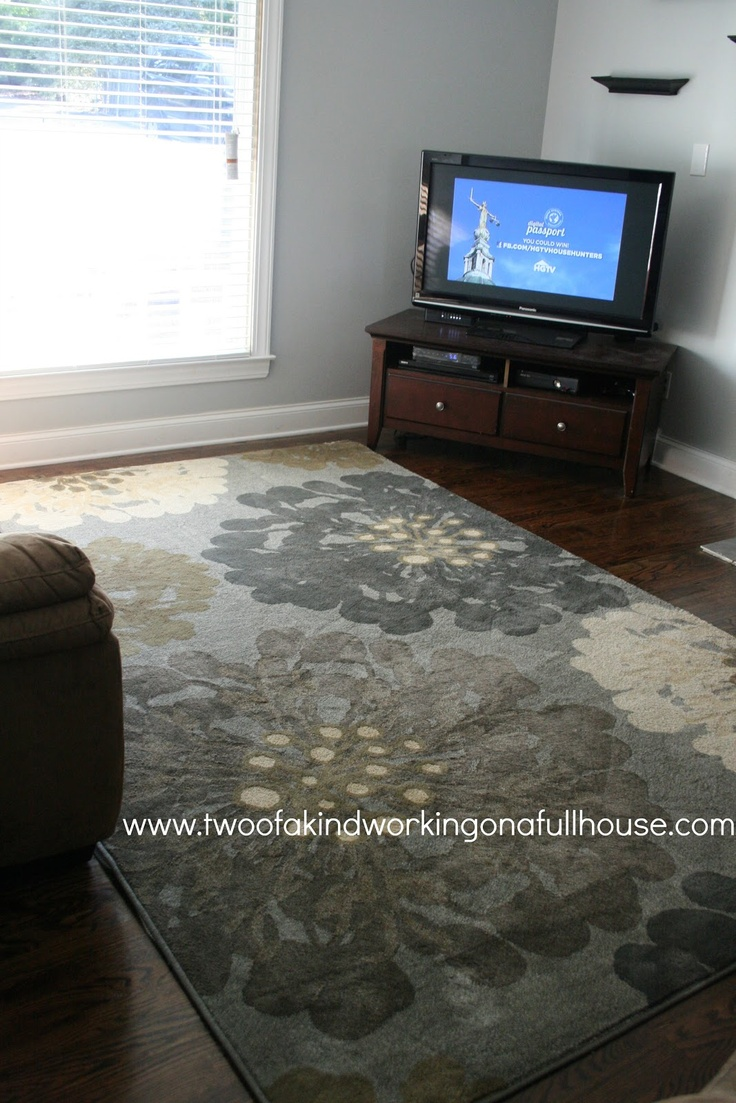 Living Room Rug Idea Pictured In A Real House