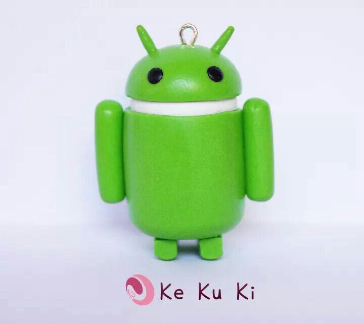 Muñeco Android arcilla polimérica, fimo, polymer clay