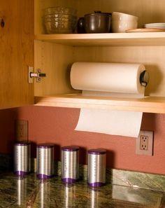 Скрытое хранение рулона бумажных полотенец.