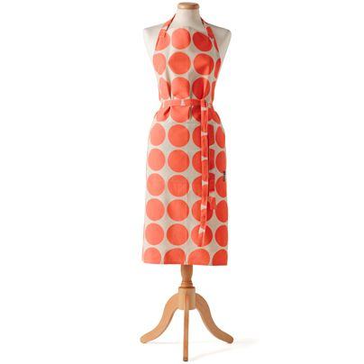 Cookin' in the kitchen Big Spot Apron Neon Coral