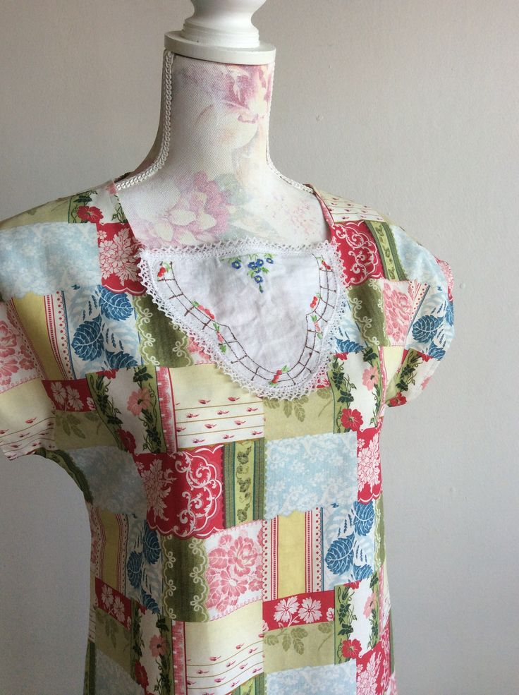 Iced Tea s/m made by dearhazel.com. Cotton fabric with vintage trims, truly one of a kind!