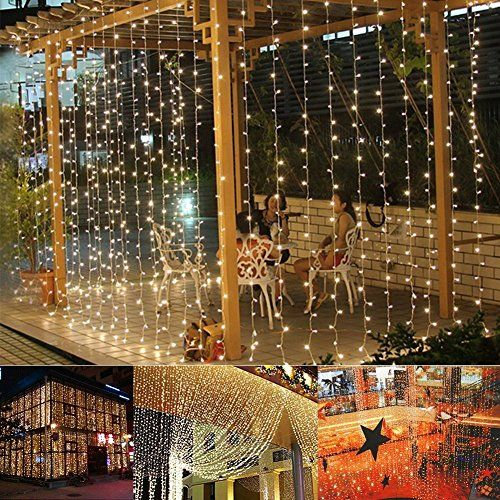 Ucharge Window Curtain Icicle Lights,29V,306 LED with 8 Modes,Warm White Led Curtain Lights, 9.8ft x 9.8ft,UL Listed - Features:Low Voltage Safe Curtain Lights: The output of the transformer: 29V(Safe Voltage)Waterproof Fairy Light promise the lights can be used both indoor and outdoor and in any weather condition8 different modes(Combination, Waves, Sequential, Slogs, Chasing/Flash, Slow fade,Twinkle/Flash,Stead...