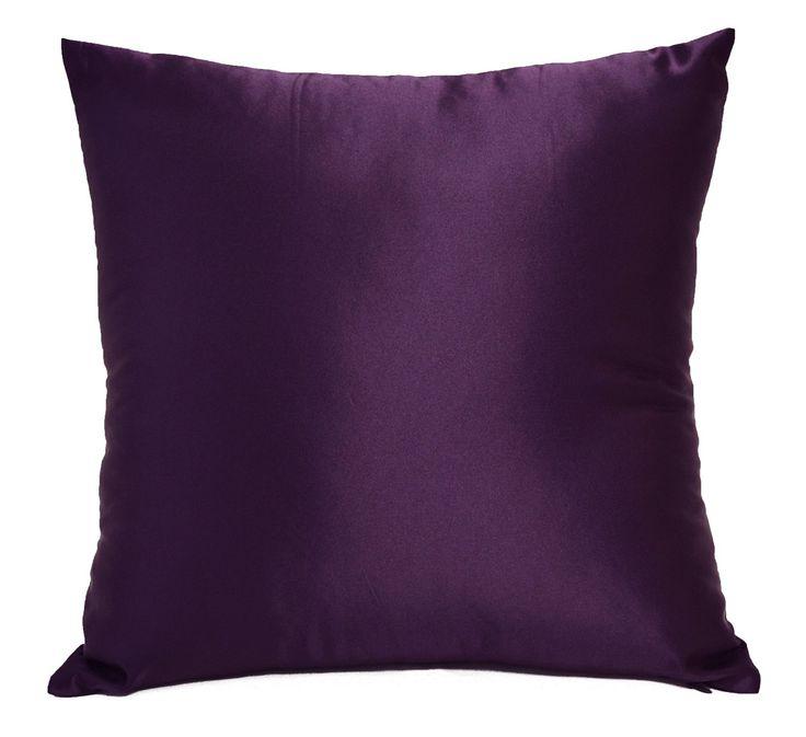 Amazon.com: Creative Colorful Shiny Satin Throw Pillow 18 By 18 - Eggplant: Bedding & Bath