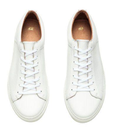 Sneakers i läder   Vit   Herr   H&M SE