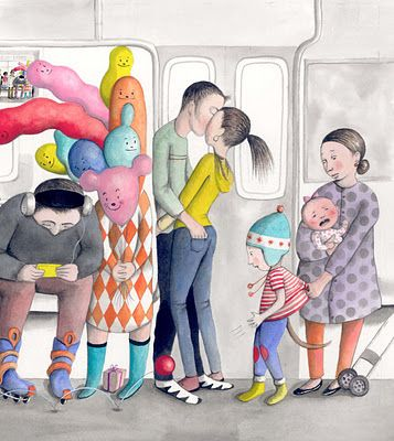 Saw this illustration on the N train this morning and fell in love with it. By Sophia Blackhall.