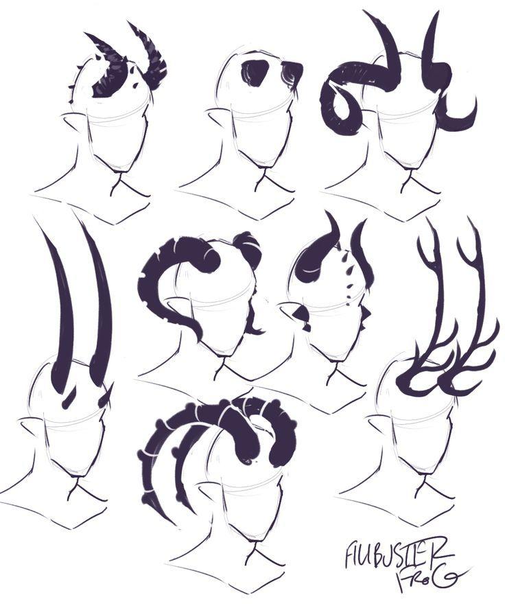 tiefling horn cheatsheet part 2 (part 1) | Drawings, Art ...