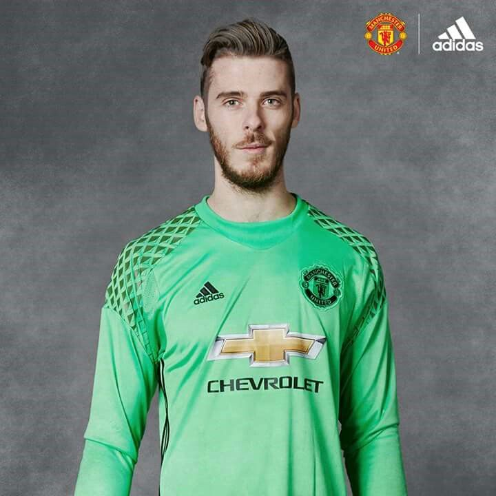 pretty nice cf924 bfb48 manchester united 1 de gea green short sleeves mens adults ...