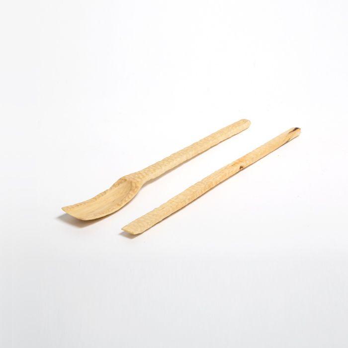 Applewood spoon and spatula. / The applewood tea set, the serenity of the orchards in a culinary experience / www.haspenwood.com /-/ Appelhouten lepel en spatel. / De appelhouten theeset, de rust van de boomgaarden vervat in een culinaire beleving. / www.haspenwood.com