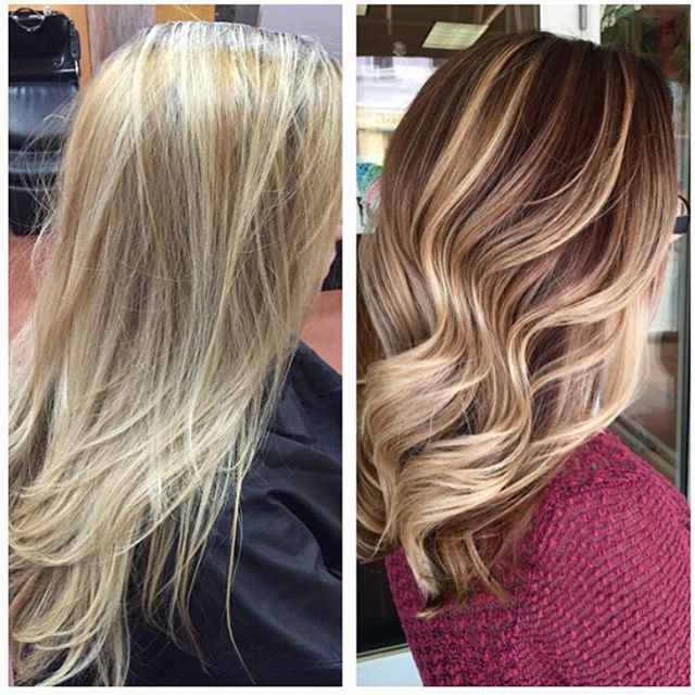 From a Summer blonde to a Fall blonde... What a beautiful transformation by @saravioletlarose!  Who else thinks so??