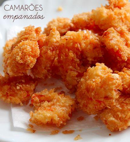 No verão, frutos do mar é sempre uma boa pedida né?! Que tal experimentar essa receita de camarão empanado com extra crocância?