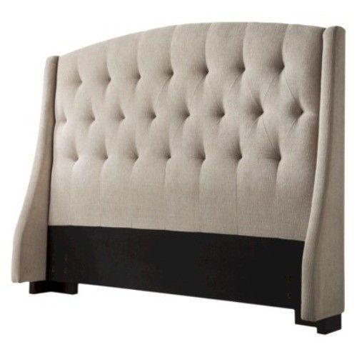 Tufted Fabric Upholstered Wingback Padded Headboard King ...