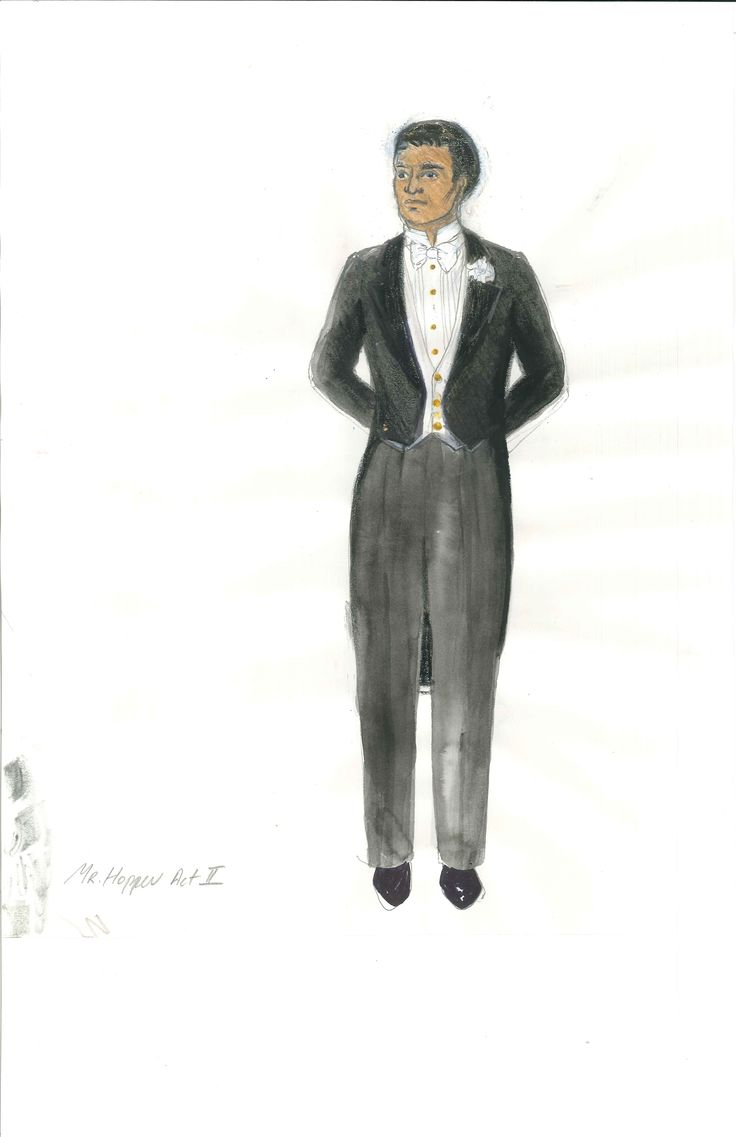 Mr. Hopper's Act 2 costume, sketched by Meg Neville