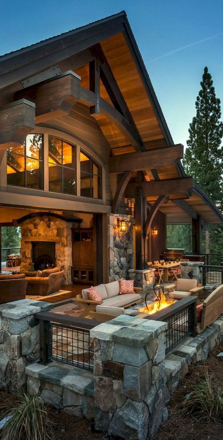 50 Incredible Log Cabin Homes Modern Design Ideas (8