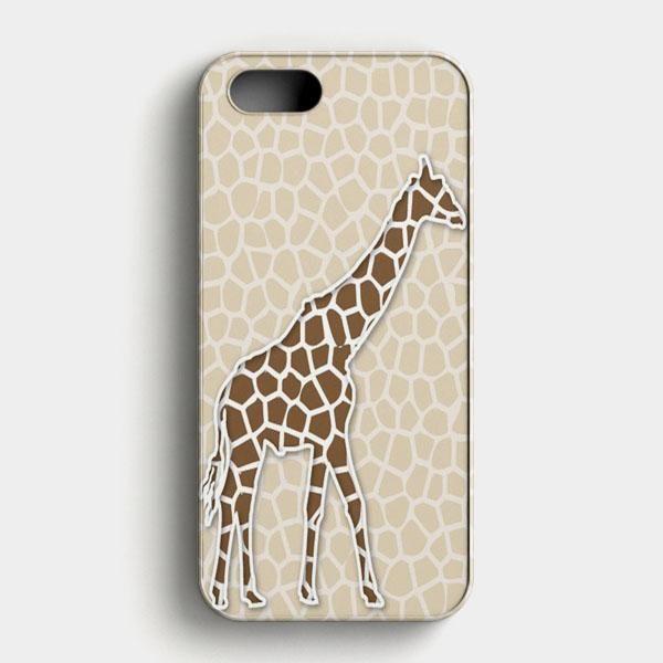 Giraffe Background Pattern iPhone SE Case