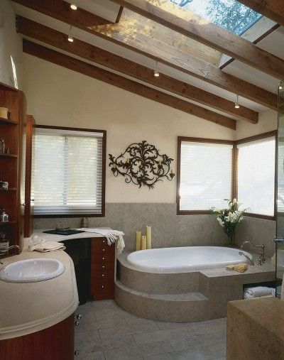 33 Cool Attic Bathroom Design Ideas - An attic can be the