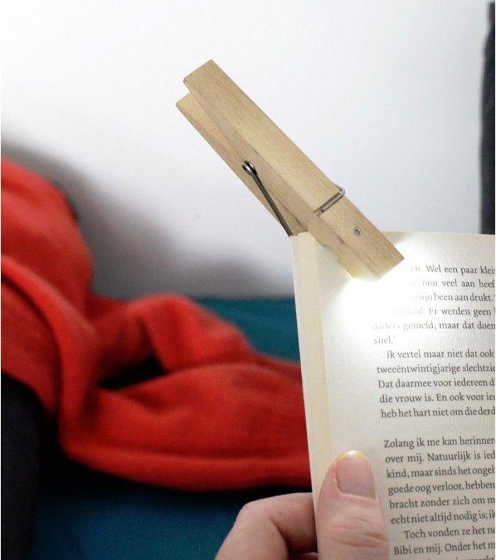 Unique Lampe de lecture pince linge