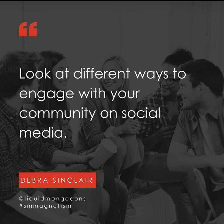 Look at different ways to engage with your community on social media.