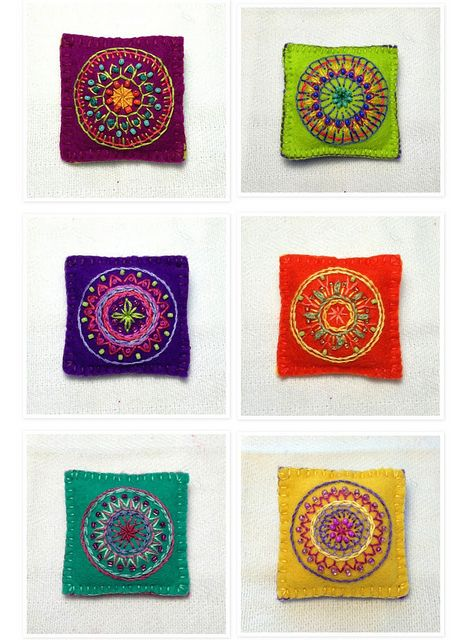 Embroidered Mandala Brooches | Flickr - Photo Sharing!