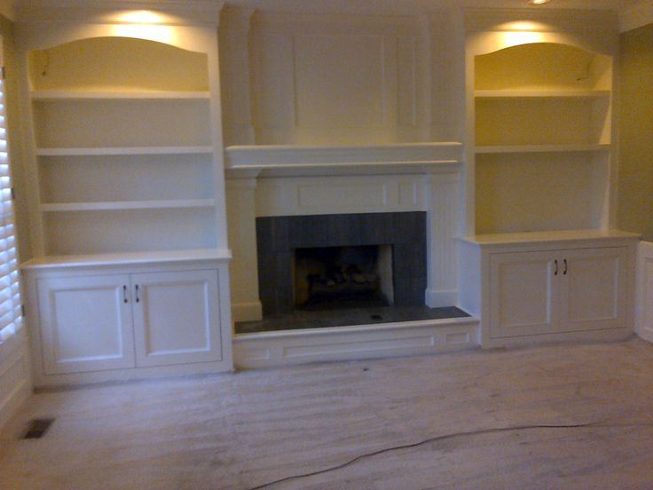 Fireplace Bookshelves and Mantle