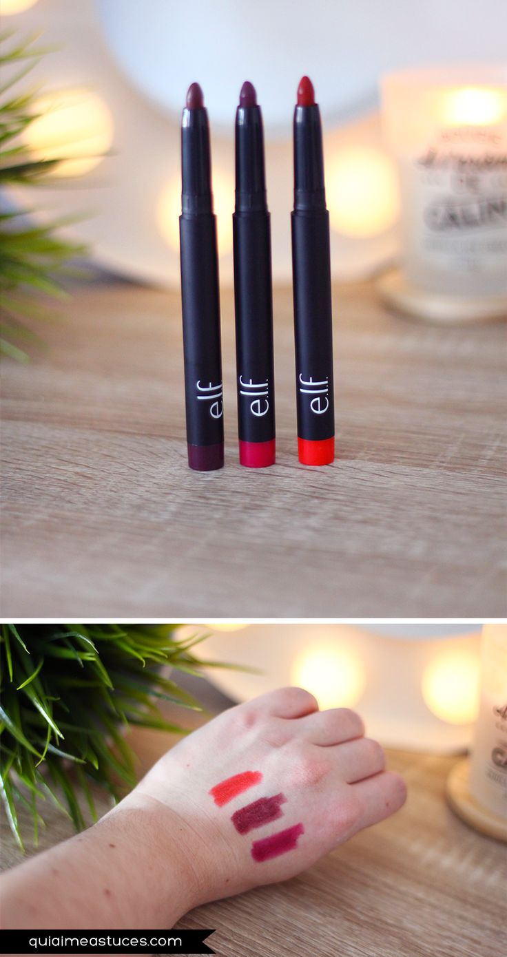 Scarlet Night (#82476) - Mulberry Maven (#82475) - Rowdy Rouge (#82474) http://www.elfcosmetics.it/product-beauty/matita-jumbo-labbra