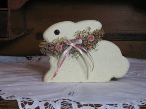 Handmade Wooden Easter Bunny /Spring Decoration by TheCountryTouch