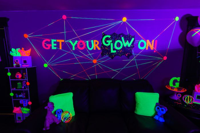 Glow Dance Birthday Party Dance Party Birthday Neon