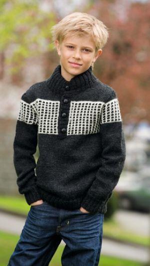 Strikkeopskrift | Strik sweater til drenge
