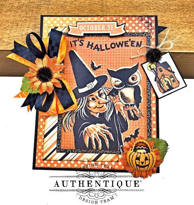 Authentique Nightfall Halloween Gift Card Tutorial by Kathy