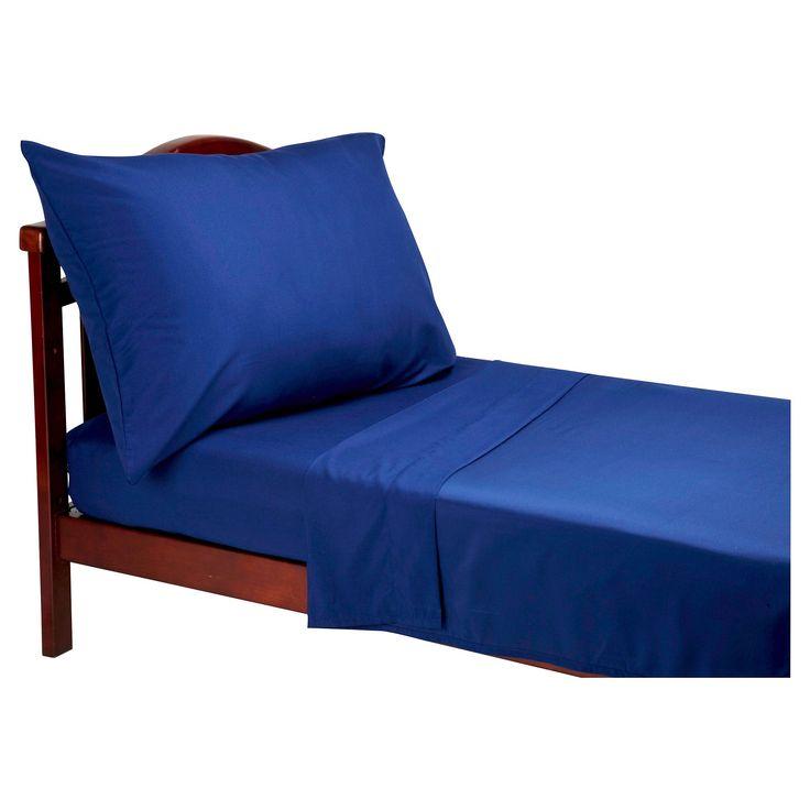 NoJo Toddler Sheet Set - Navy (Blue)