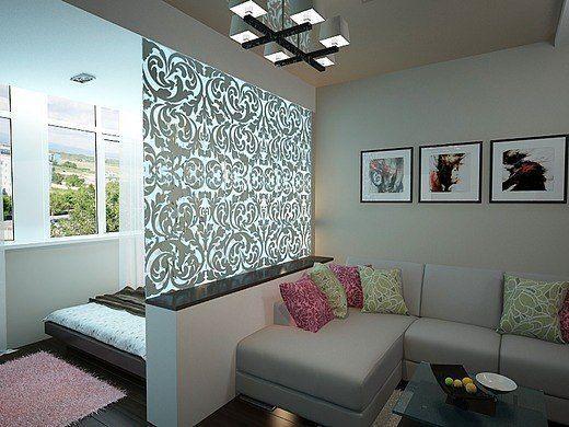 Зонирование комнаты Ажурными панелями из бандо на гостиную и спальню Зачастую зонирование гостиной - lambreken4you