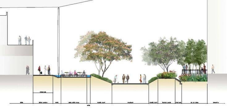 Landscape Architecture Section Drawings fine landscape architecture section drawings coupeplan sur voie